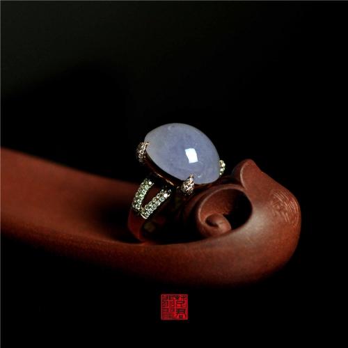 LK2-4  糯冰种紫罗兰戒指