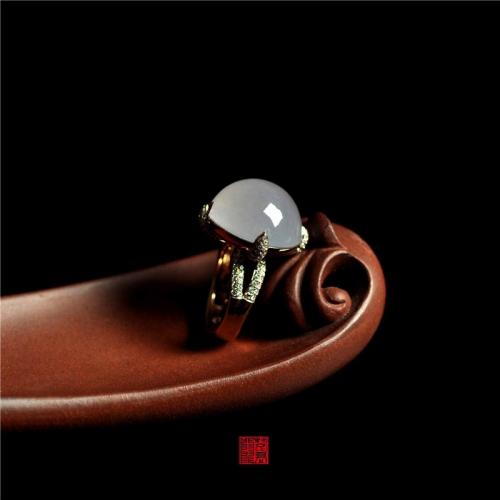 LK2-5  糯冰种紫罗兰戒指