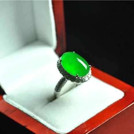 LK3-5  冰种满色戒指